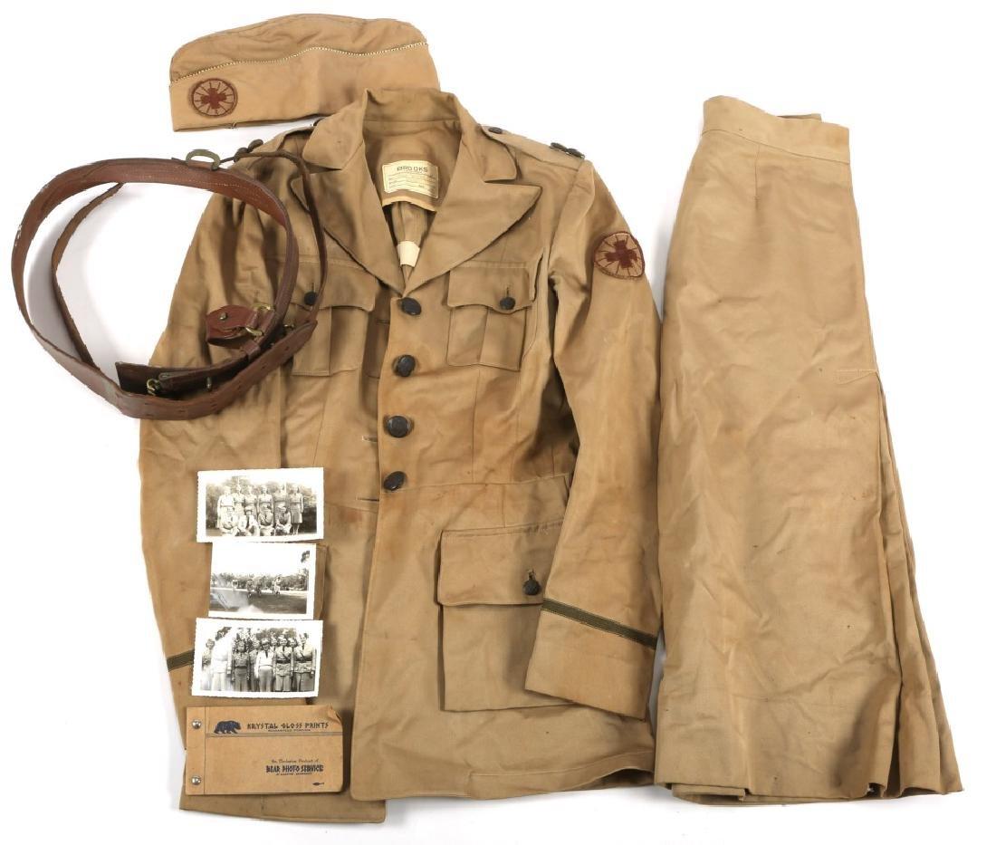 WWII US ARMY VOLUNTEER NURSE KHAKI UNIFORM GROUP