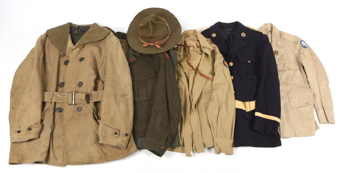 WWII US ARMY MIXED LOT OF UNIFORM