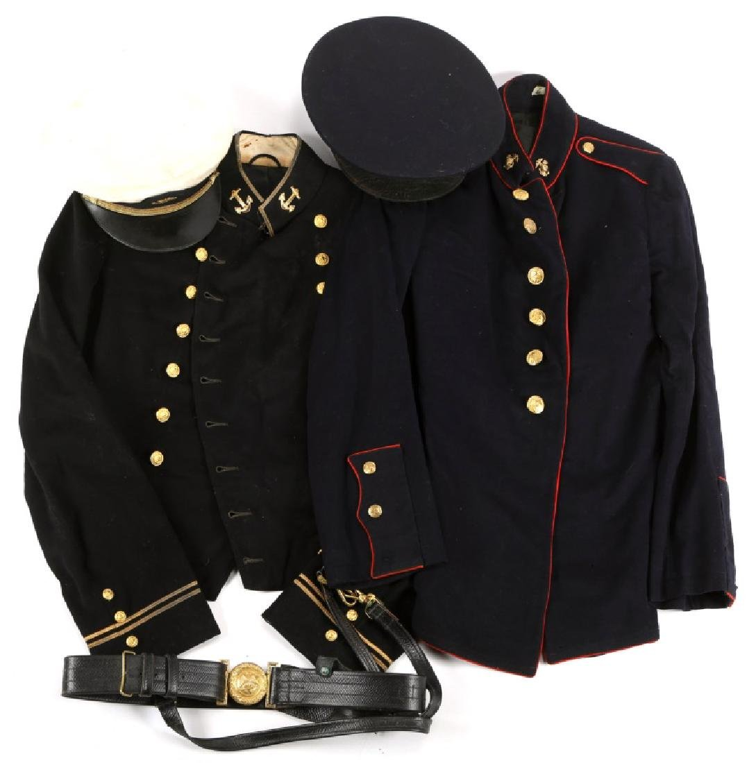 WWII US NAVY AND MARINE CORPS UNIFORM & HAT LOT