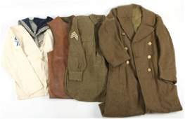 WWII MIXED LOT OF US AND BRITISH UNIFORMS