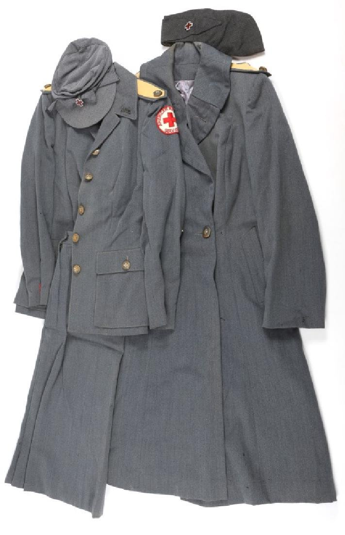 WWII AMERICAN RED CROSS SERVICE FEMALE GROUPING