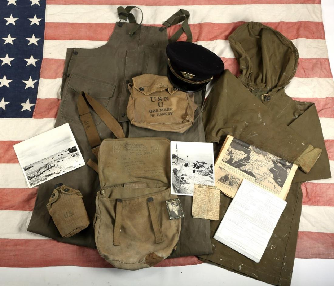 WWII D-DAY FLOWN FLAG LST 314 & LT. OAKES WWII ARCHIVE - 2