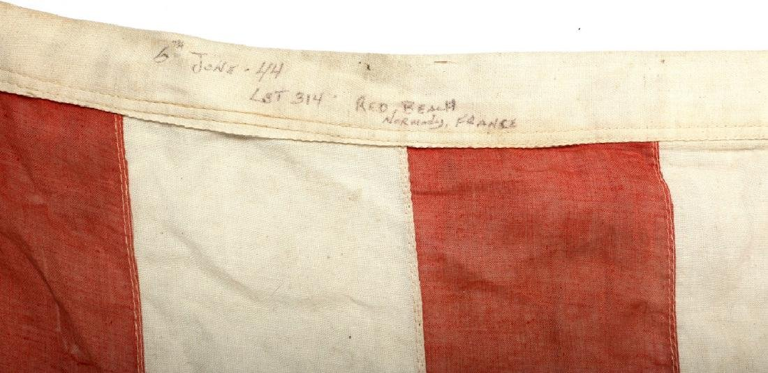 WWII D-DAY FLOWN FLAG LST 314 & LT. OAKES WWII ARCHIVE - 3