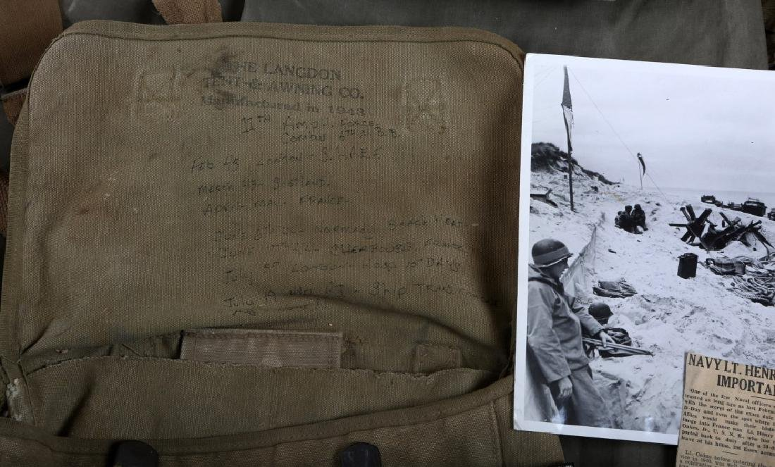 WWII D-DAY FLOWN FLAG LST 314 & LT. OAKES WWII ARCHIVE - 4