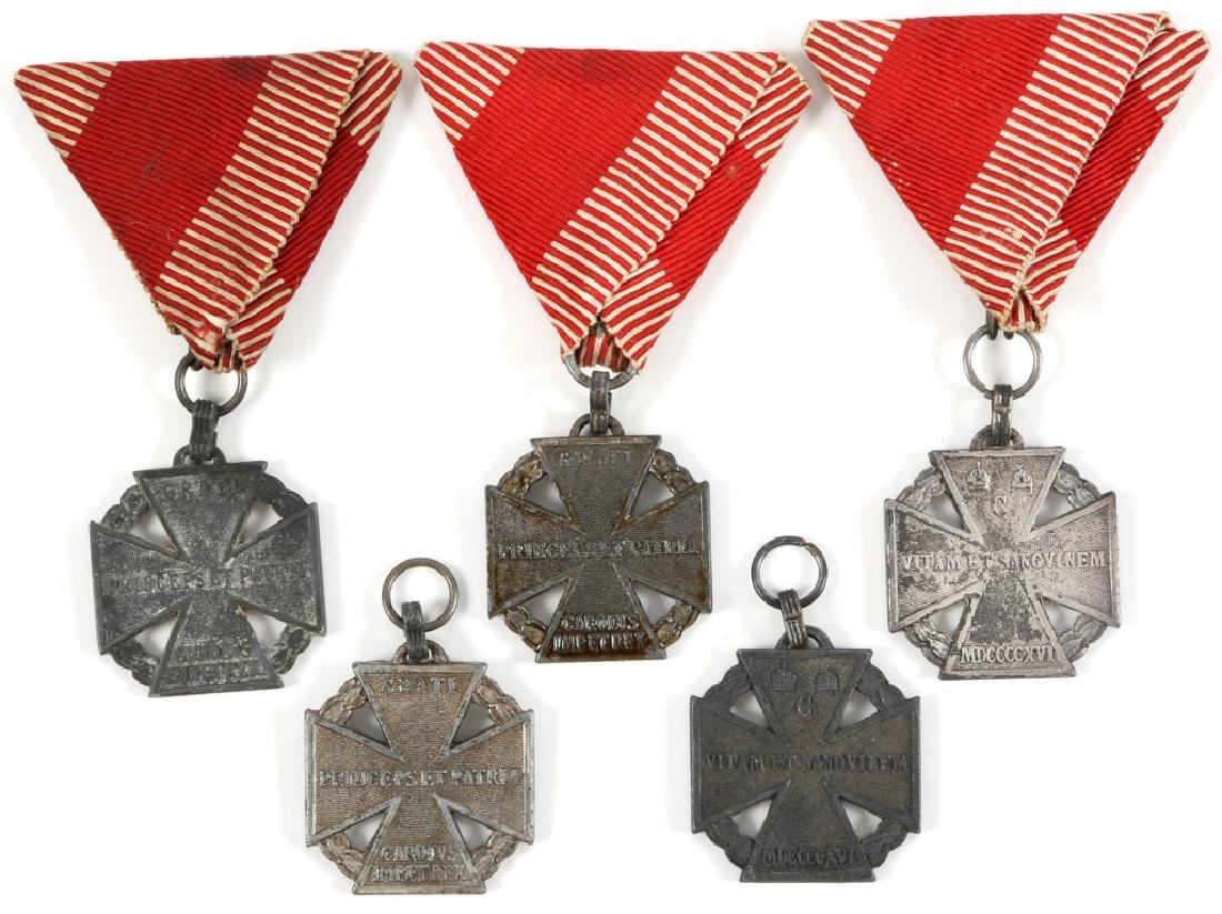 AUSTRIAN WWI HONOR CROSS MEDAL LOT OF 5