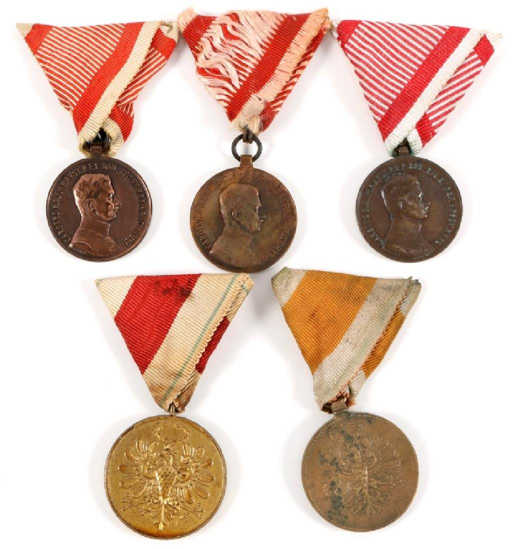 AUSTRIAN WAR SERVICE MEDAL LOT OF 5