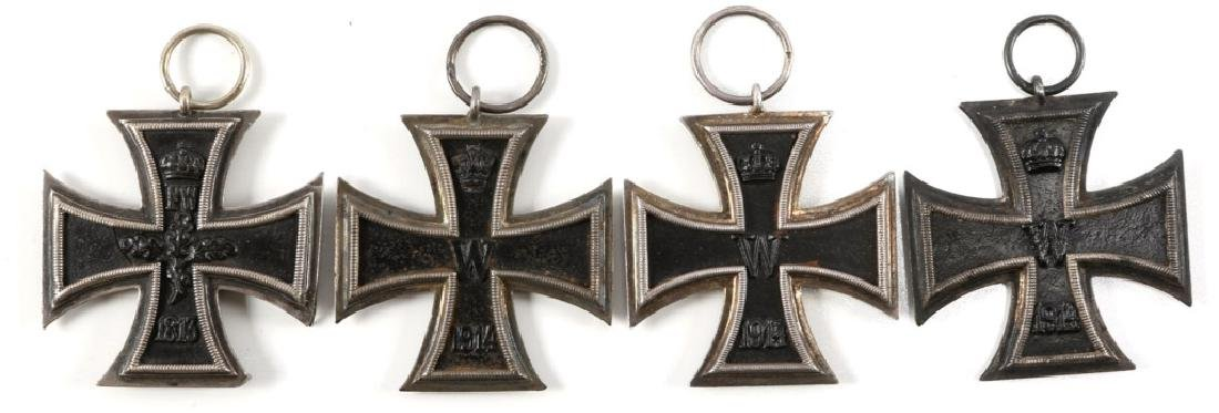 WWI GERMAN IRON CROSS MEDAL 2nd CLASS LOT OF 4