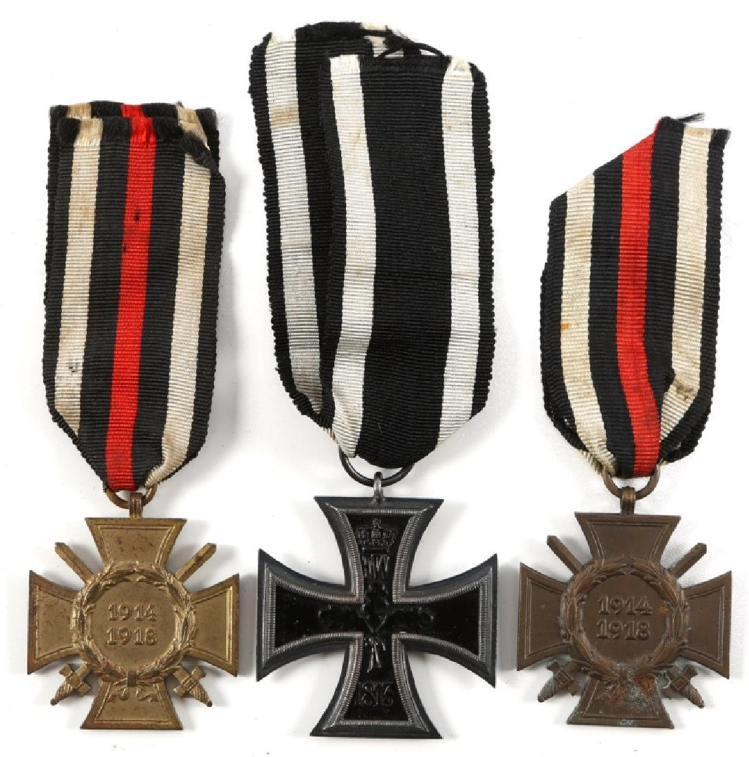 WWI GERMAN IRON CROSS & MEDAL LOT OF 3