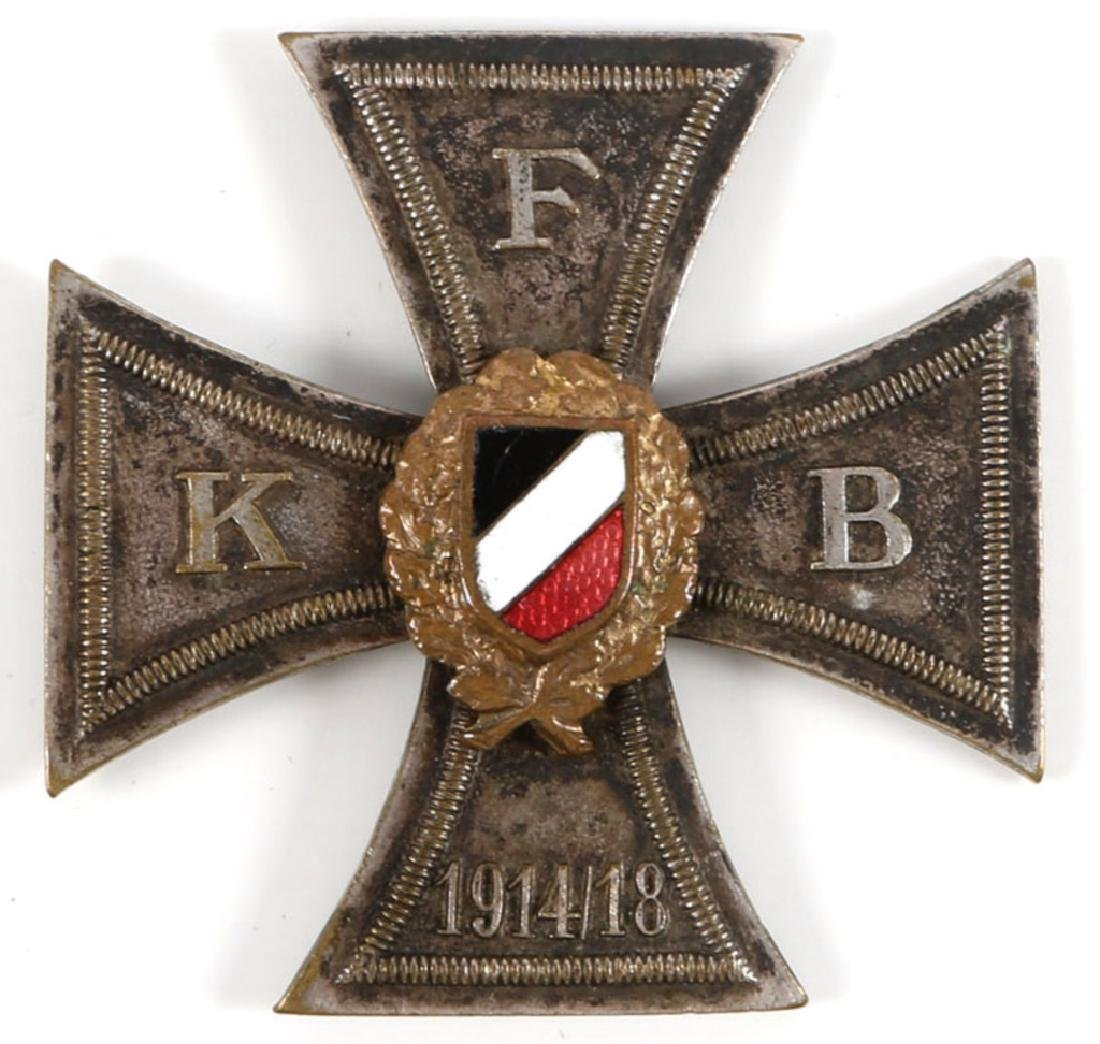GERMAN WWI KFB VETERANS AND RESERVISTS ASSN CROSS