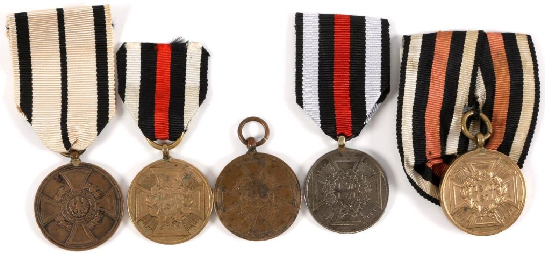 GERMAN FRANCO PRUSSIAN WAR MEDAL LOT OF 5