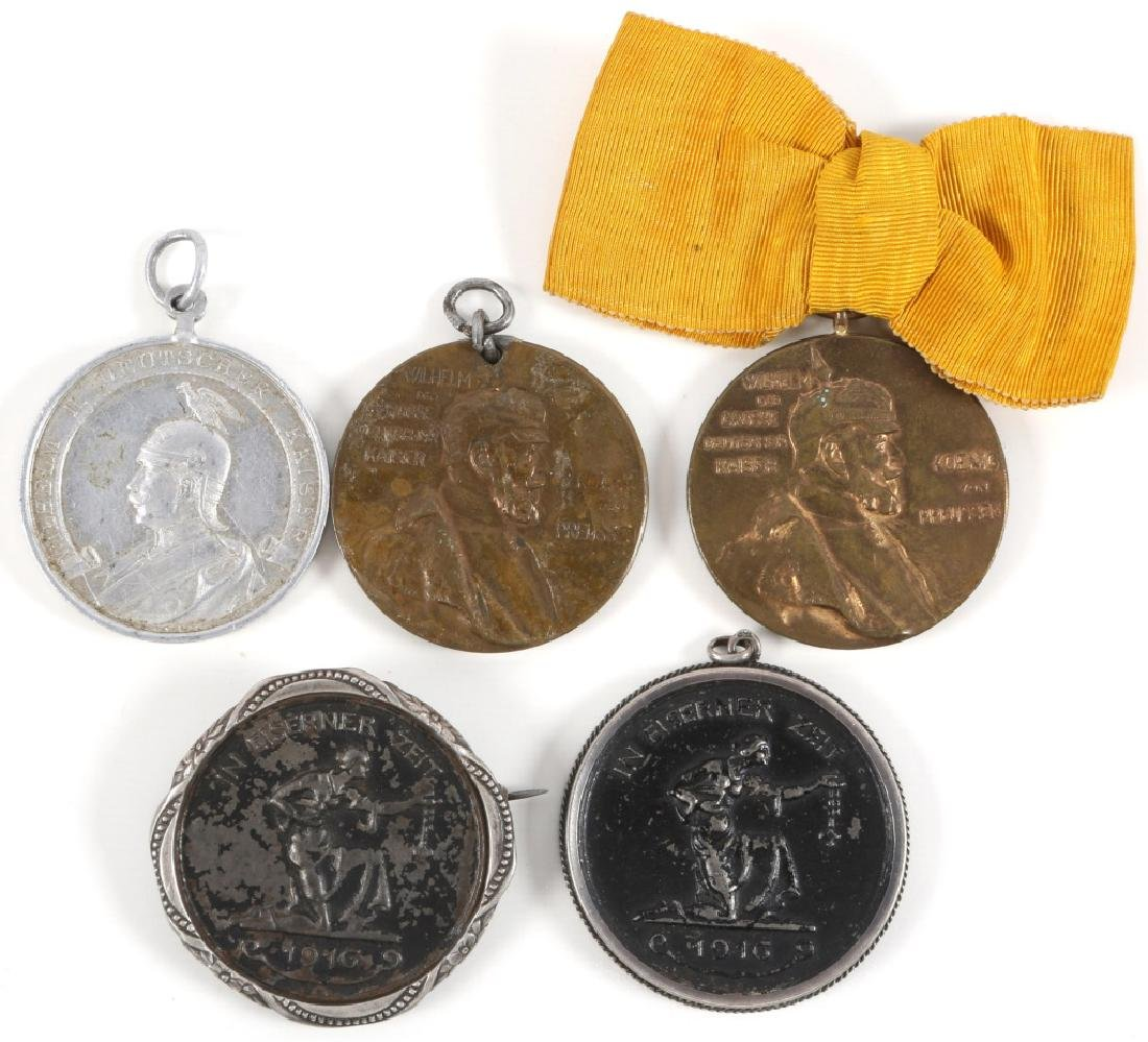WWI GERMAN MEDAL LOT OF 5