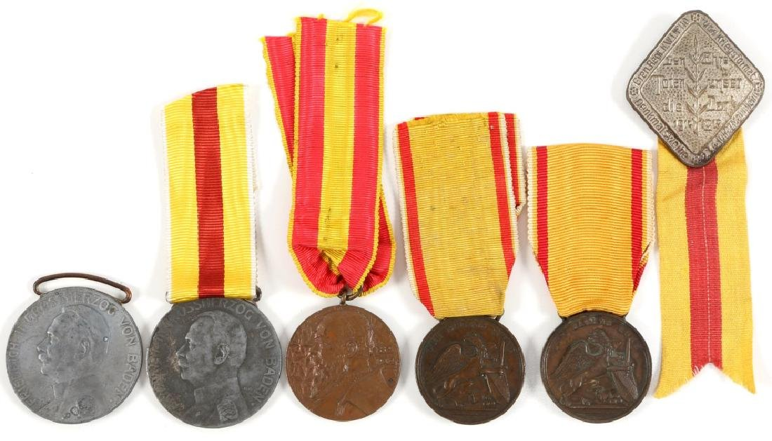 GERMAN BADEN MEDAL LOT OF 6
