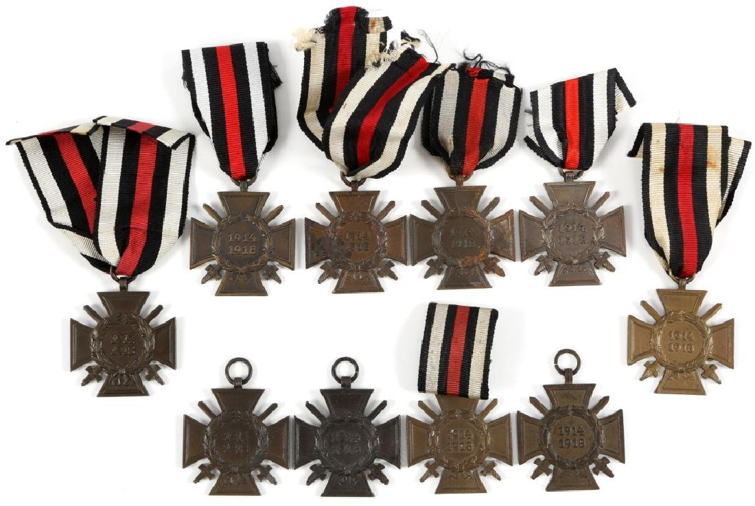 GERMAN WWI HONOR CROSS LOT OF 10