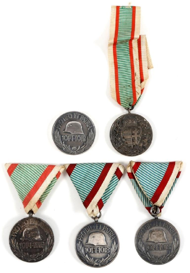 HUNGARIAN WWI SERVICE MEDAL LOT OF 5