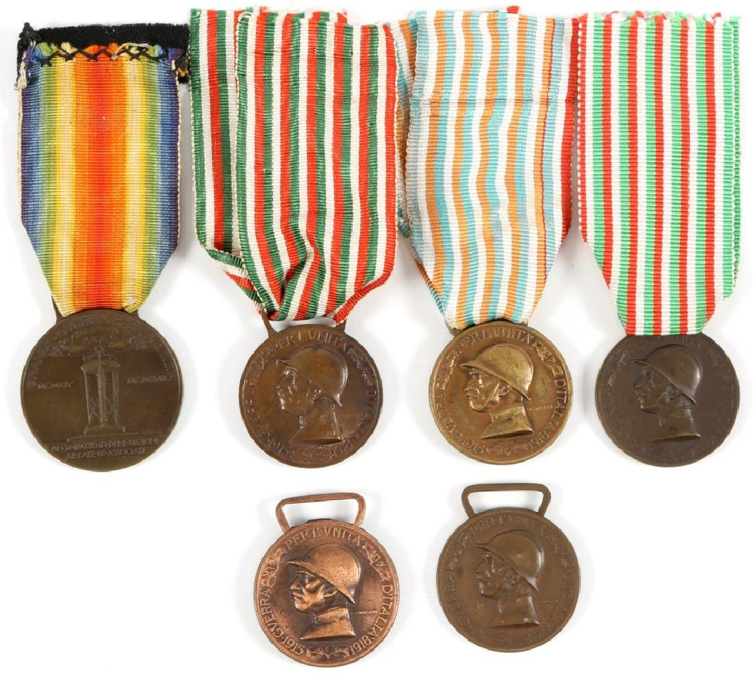 ITALIAN VICTORY MEDAL LOT OF 6