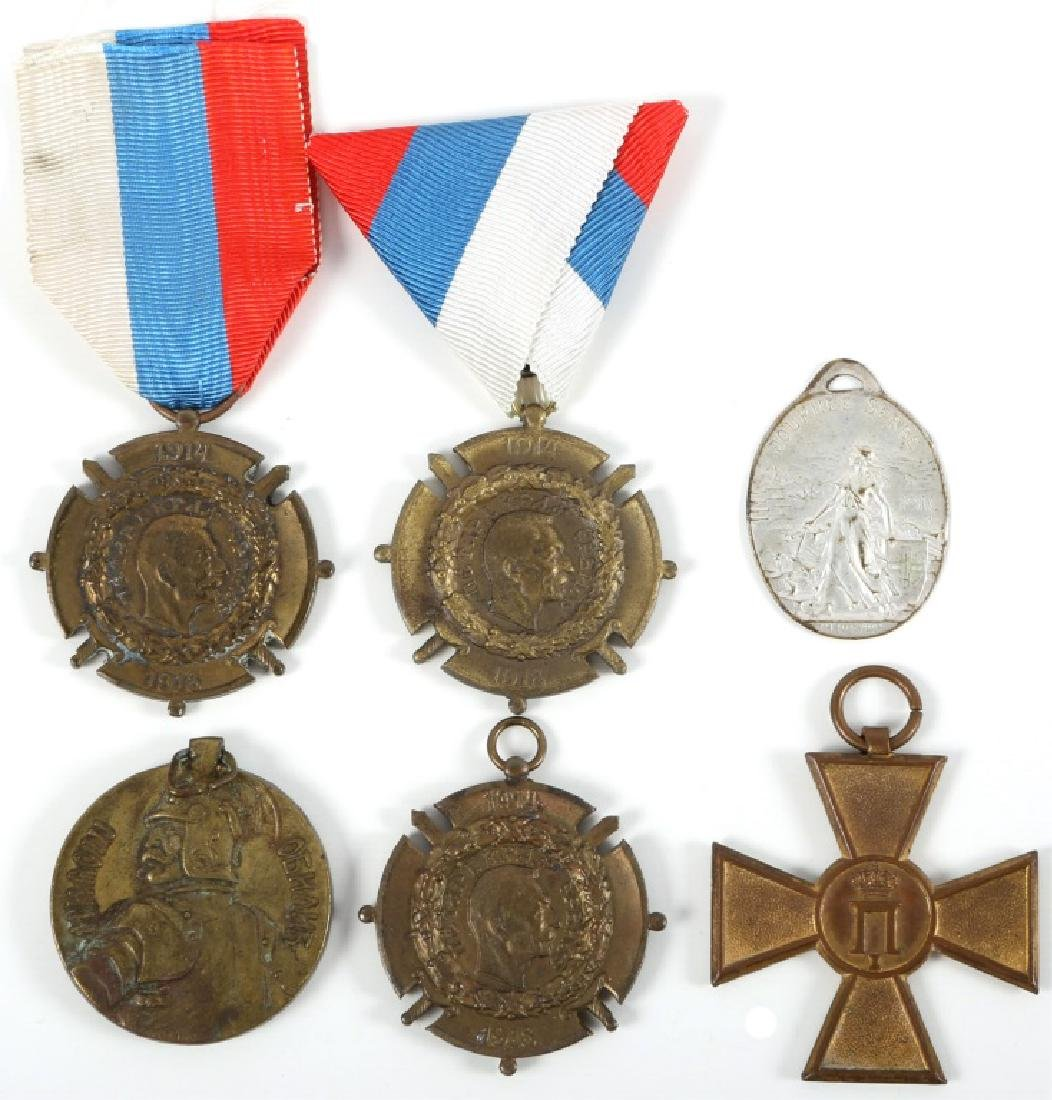 SERBIAN WWI MEDAL LOT OF 6