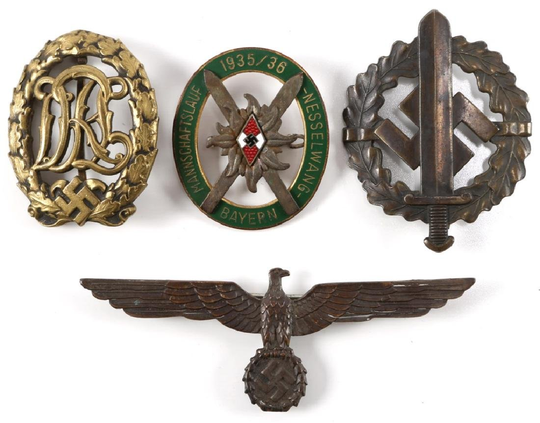WWII GERMAN BADGE INSIGNIA LOT OF 4