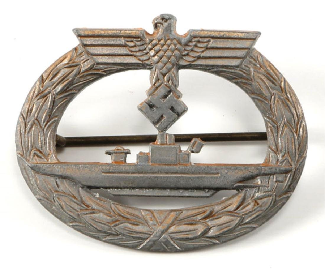 WWII GERMAN SUBMARINE BADGE BY F. ORTH