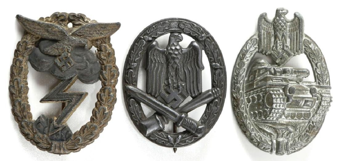 WWII GERMAN QUALIFICATION BADGE LOT OF 3