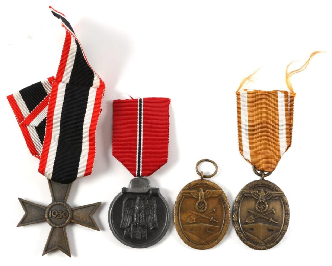 WWII GERMAN MEDALS LOT OF 4