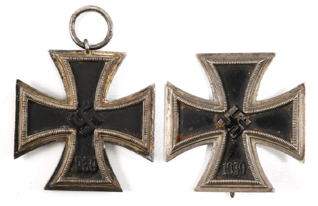WWII GERMAM IRON CROSS 1st & 2nd CLASS LOT OF 2