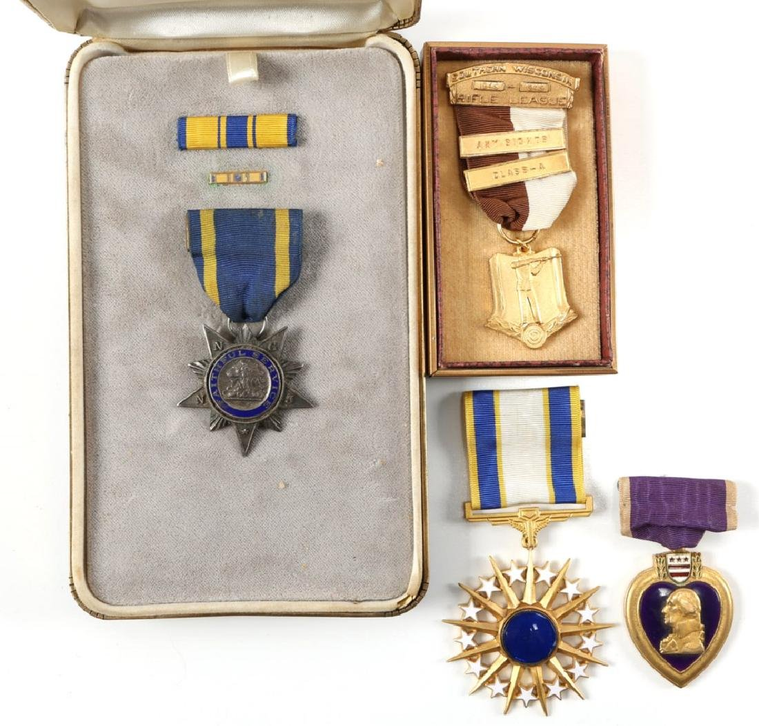 US MEDAL MIXED LOT WITH PURPLE HEART