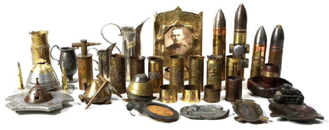 WWI WORLD SHELL TRENCH ART LOT