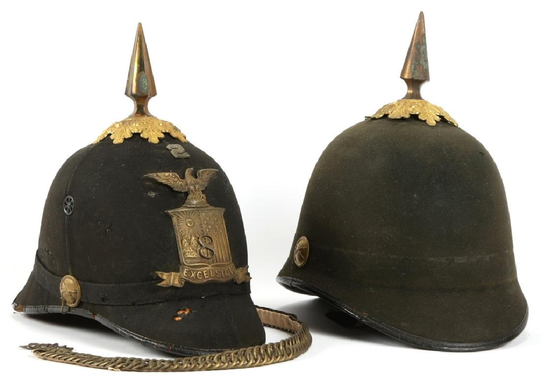 US ARMY MODEL 1889 SPIKE HELMET LOT OF 2