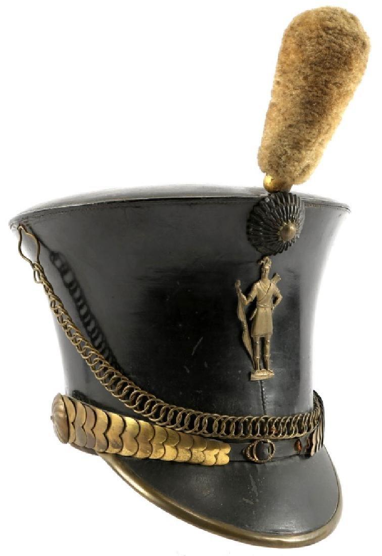 US MILITIA 1832 BELL CROWN TAR BUCKET SHAKO