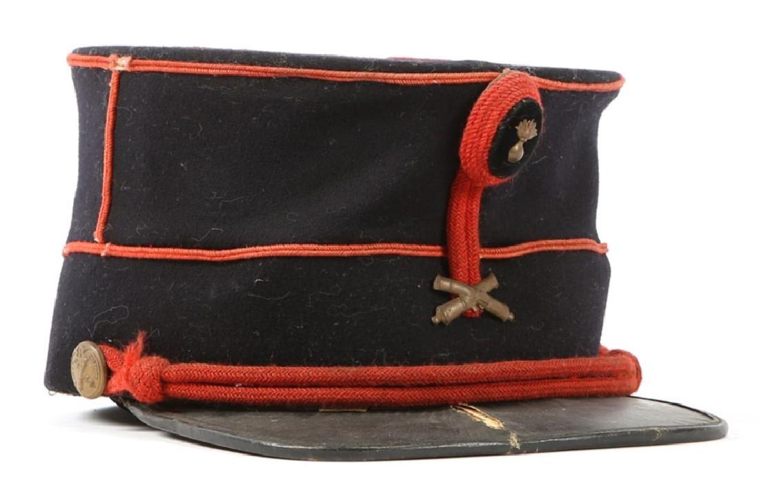 WWI BELGIUM ARTILLERY GARDE CIVIQUE KEPI HAT