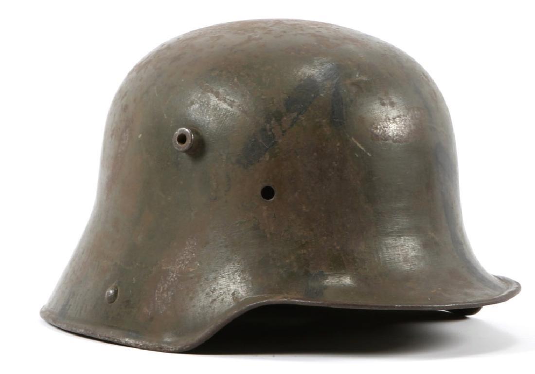 WWI GERMAN M16 CAMOUFLAGE NAMED COMBAT HELMET