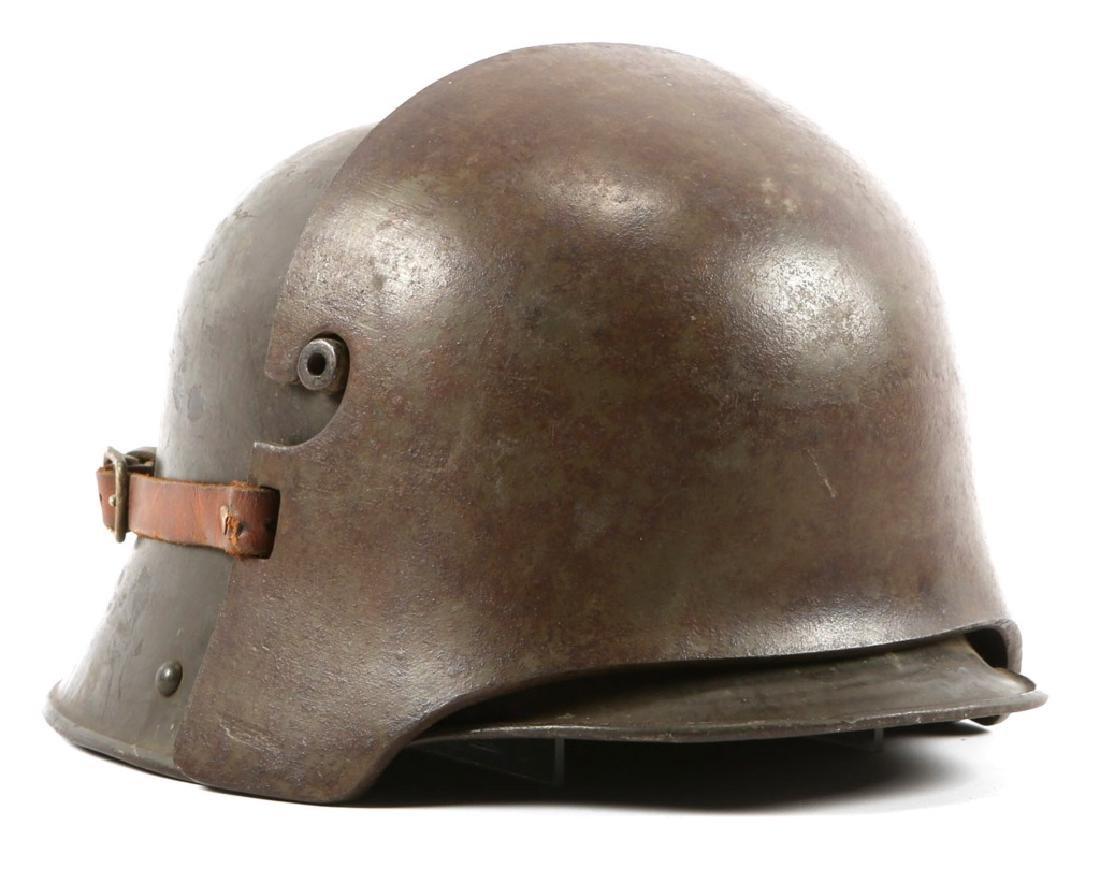 WWI GERMAN M16 STORMTROOPER HELMET & FRONT PLATE