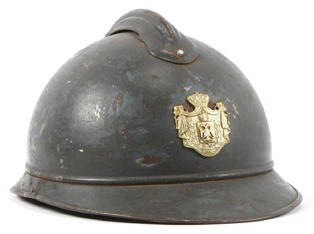 WWI SERBIAN M15 ADRIAN OFFICER COMBAT HELMET