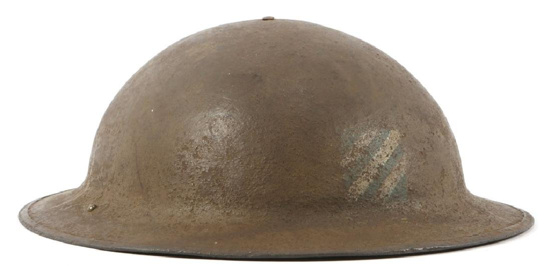 WWI US ARMY 3RD INFANTRY PAINTED COMBAT HELMET