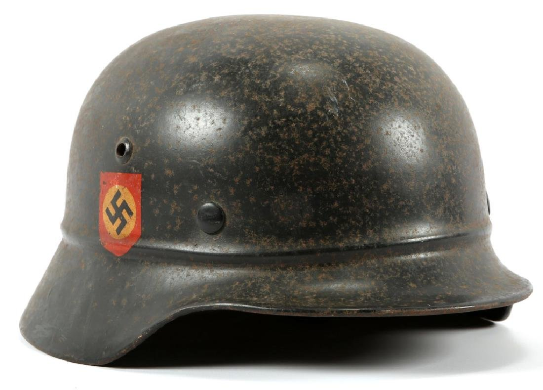 WWII M40 GERMAN POLICE DOUBLE DECAL HELMET