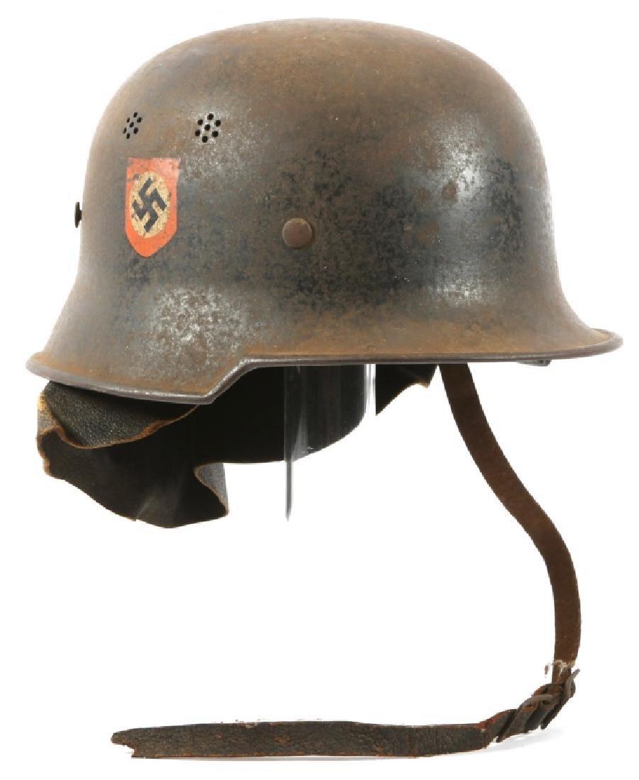 WWII GERMAN FIRE POLICE DD M34 HELMET