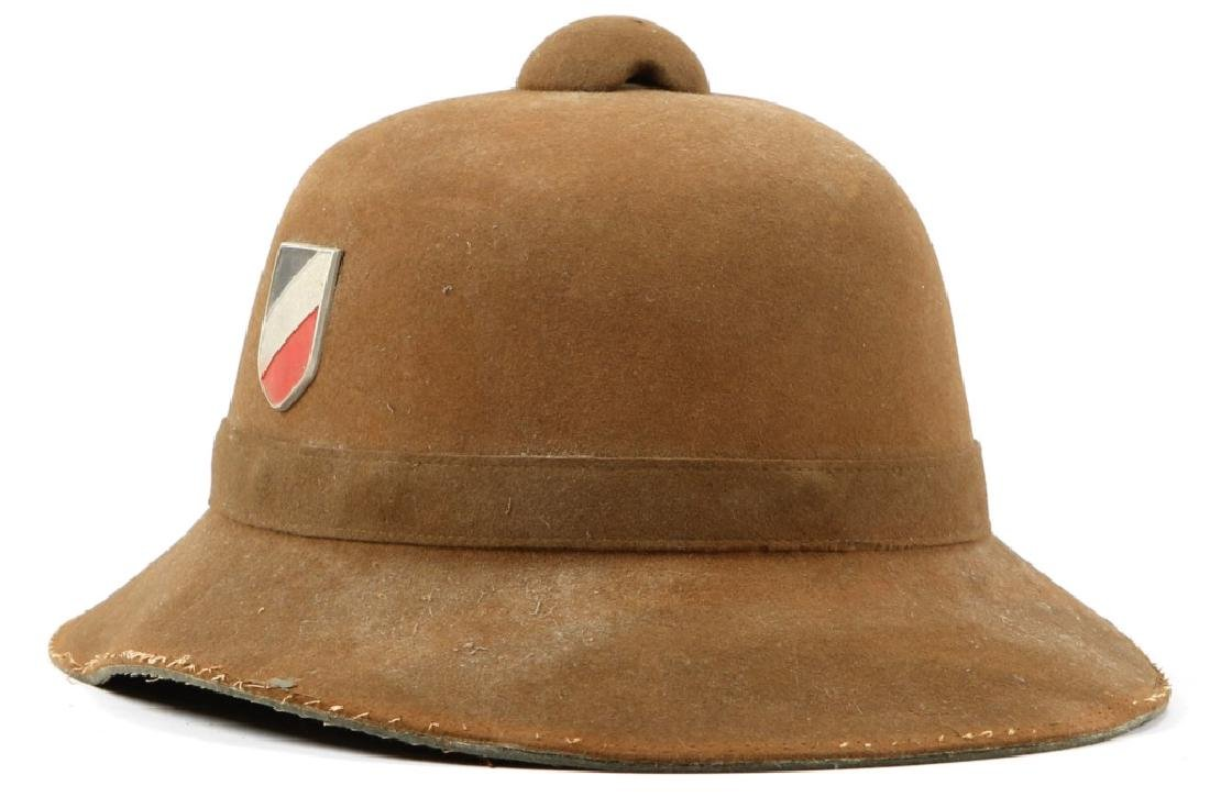 WWII GERMAN PITH HELMET BY JHS - 1942