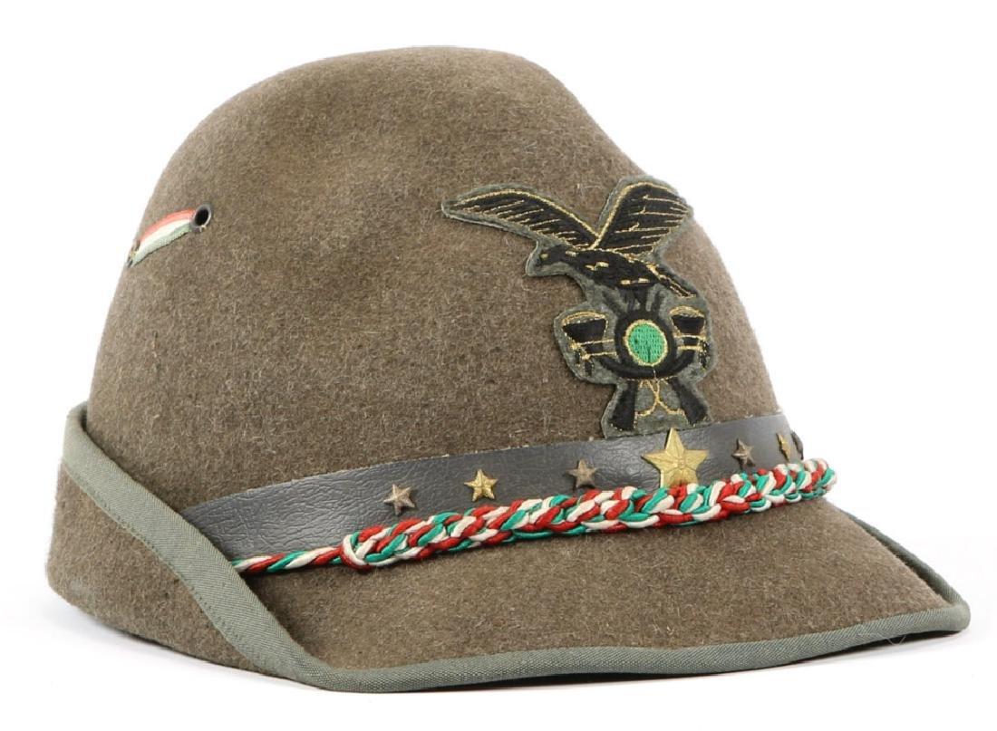 WWII ITALIAN ALPINE TROOPS OFFICER DRESS HAT