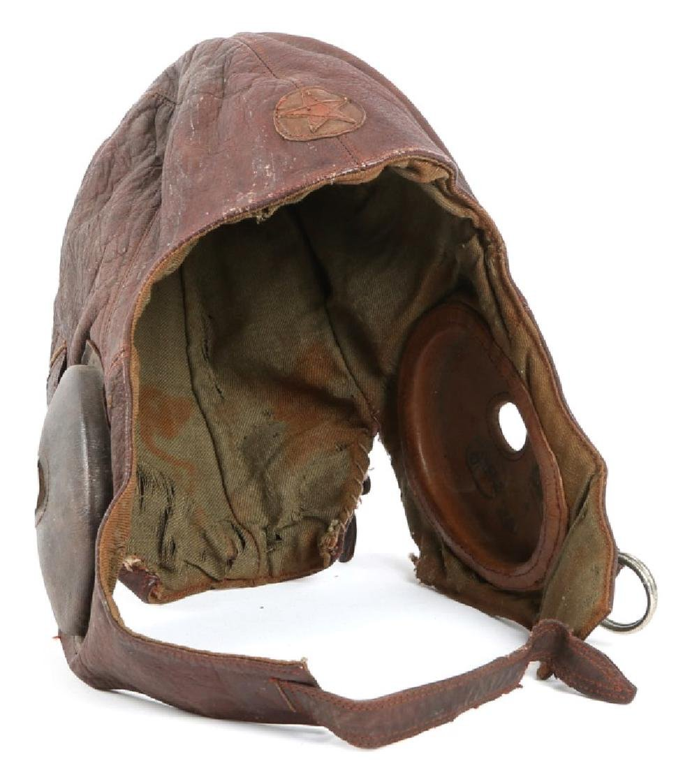 WWII JAPANESE ARMY PILOT LEATHER FLIGHT HELMET