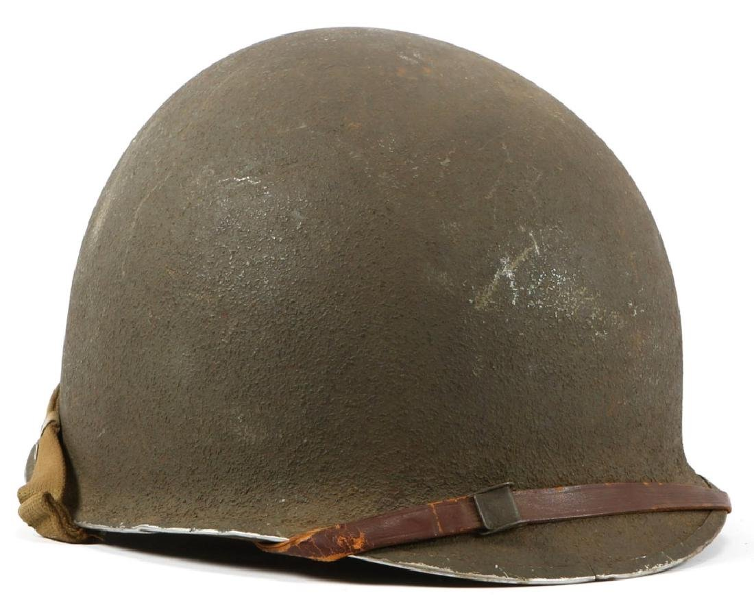 WWII US FIXED BALE M1 HELMET WITH LINER