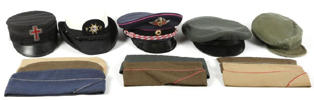 MIXED MILITARY HAT LOT OF 12