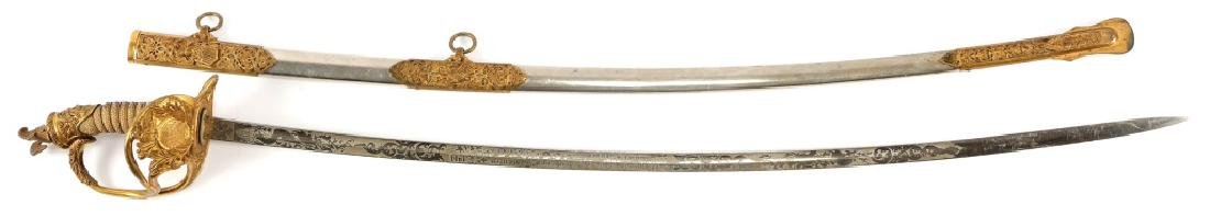 US ARMY M1872 NAMED OFFICER PRESENTATION SWORD