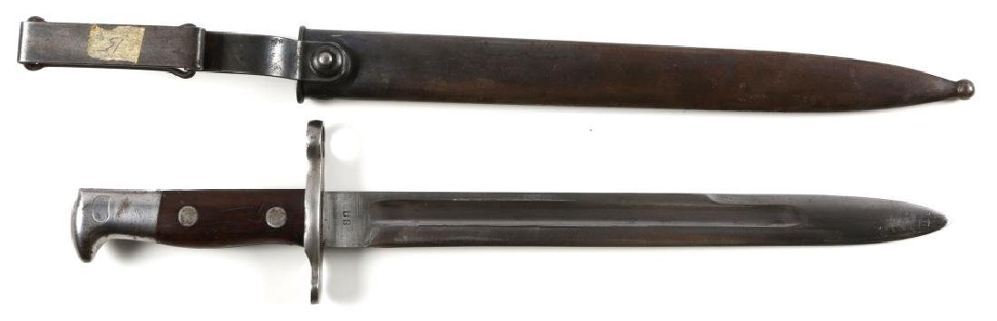 US MODEL 1898 KRAG BAYONET WITH SCABBARD