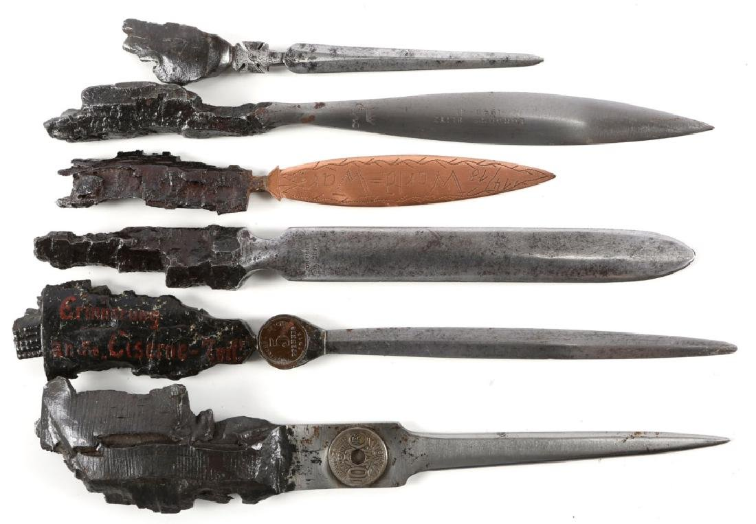 WORLD WAR TRENCH ART KNIFE LETTER OPENER LOT 6