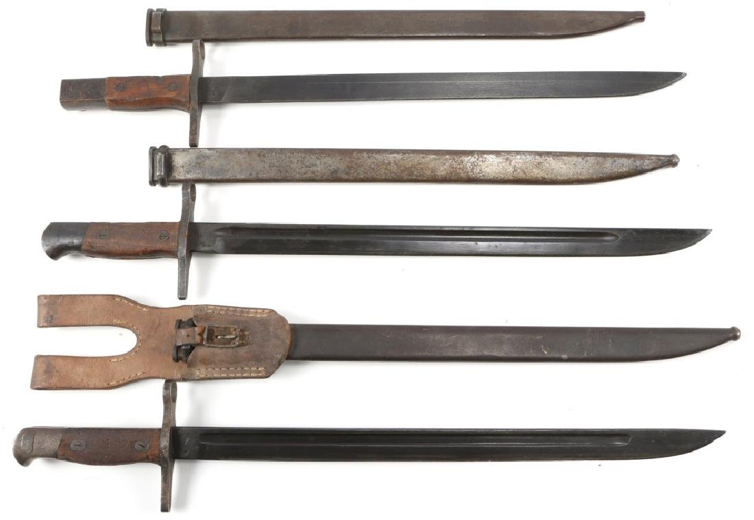 WWII JAPANESE BAYONET TYPE 30 MID WAR LOT OF 3