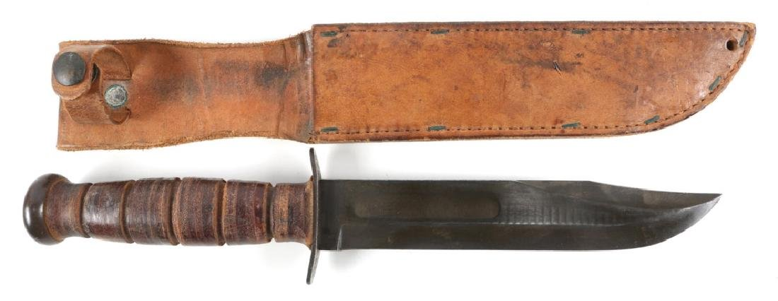 WWII USN NAVY MK2 KA-BAR COMBAT KNIFE