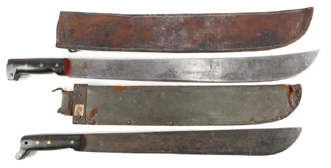 WWII US & USN MK2 LEGITIMUS MACHETE LOT OF 2