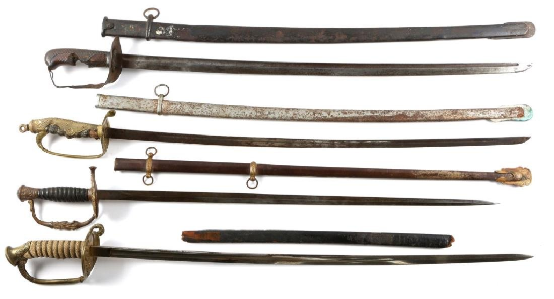 WWII US AND JAPANESE SWORD LOT OF 4