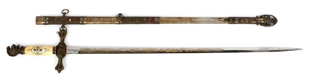 KNIGHTS OF PYTHIAS FRATERNAL SWORD
