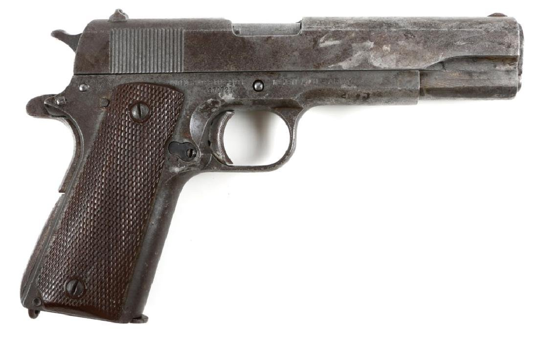 WWII US ARMY ITHACA MODEL 1911A1 PISTOL MFG 1943